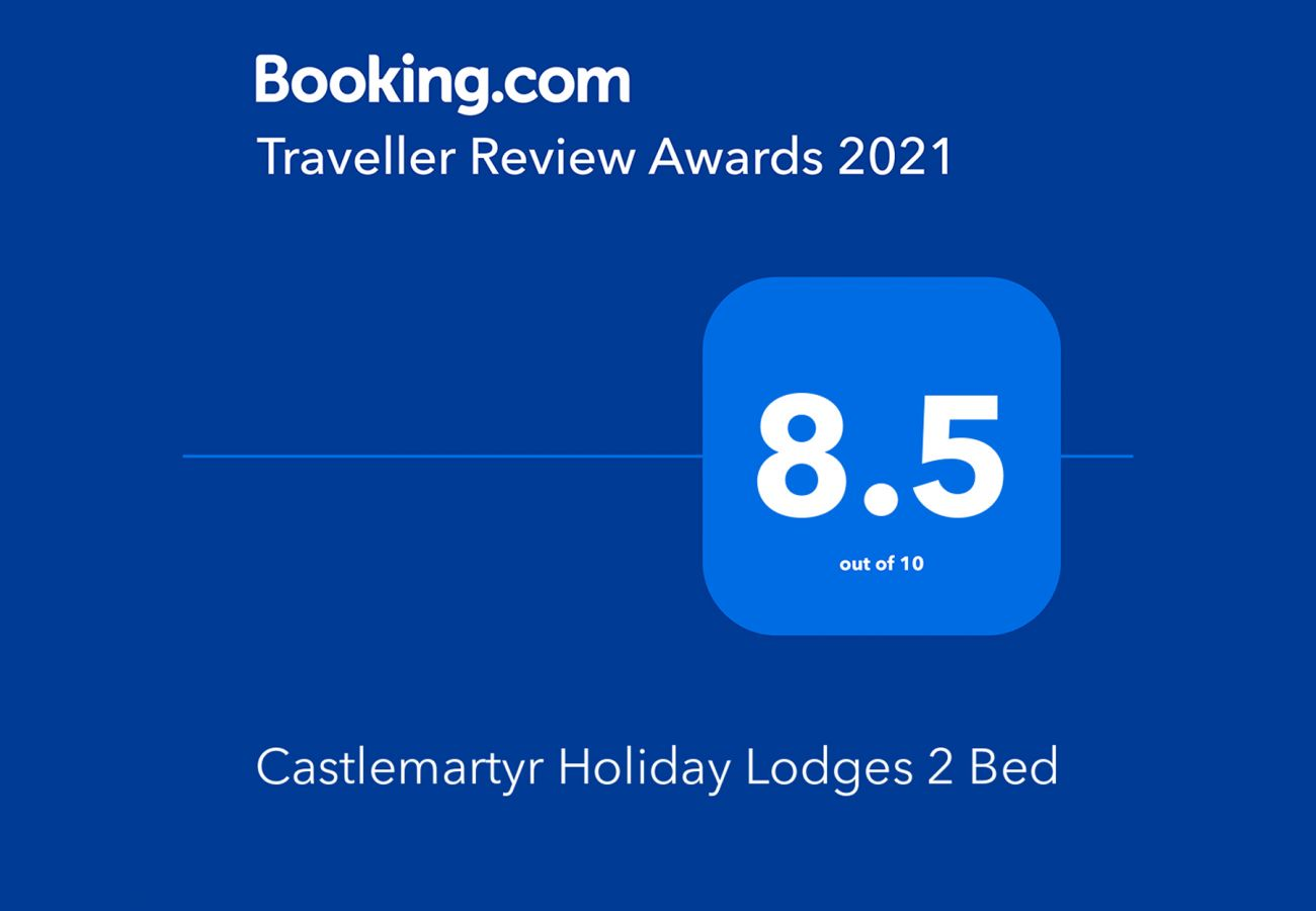 Booking.com Travel Award 2021 | Castlemartyr Holiday Lodges Travel Award | Trident Holiday Homes